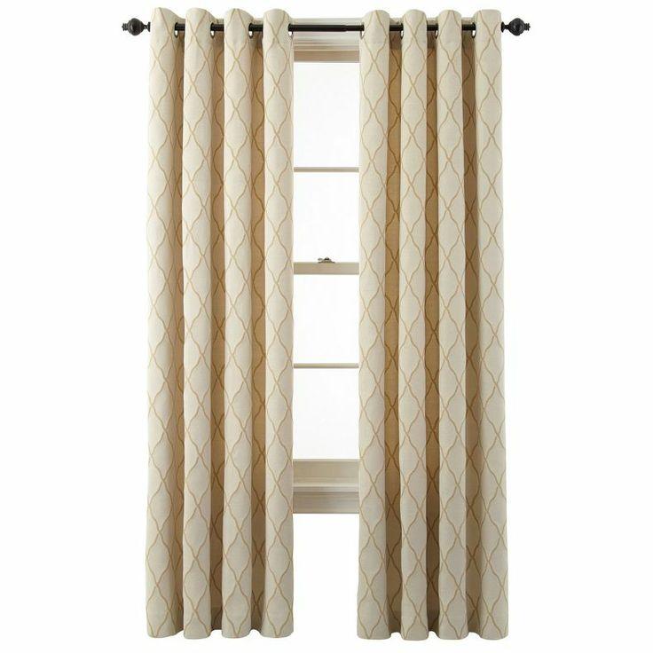 Jcpenney Marthawindow Windsor Wave Grommet Top Curtain