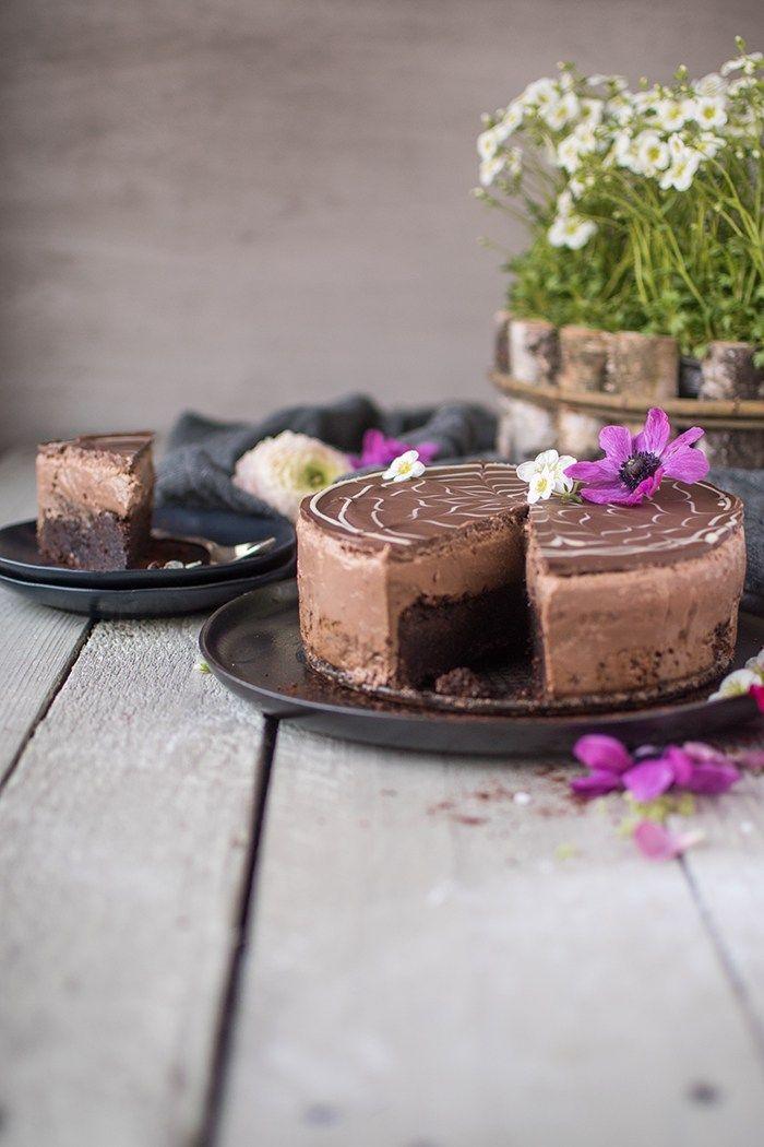 Brownie-Schoko-Mousse-Torte: Auszeit für Chocoholics