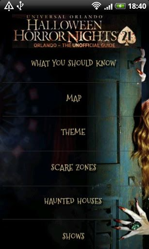 "Going to Halloween Horror Nights® 21 In Orlando? <p>HHN - 21 ""The Unofficial Guide"" This application is designed to help anyone attending Halloween Horror Nights at Universal Studio's Orlando® get the most out of their horrific adventure by providing tips, time and money savers as well as ticket options.<p>This app is packed with everything you'll need to have a horribly good time at HHN 21 in Orlando. <p>This application includes:<br> ★ Attendee Tips<br> ★ Time & Money Savers<br> ★ Ticket…"