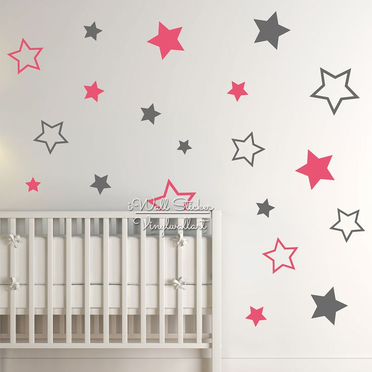 Fresh Kinderdagverblijf van de Baby Stars Wall Sticker Star Muurtattoo Kinderen Kamer Wandsticker Kinderkamer Gemakkelijk Wall Art