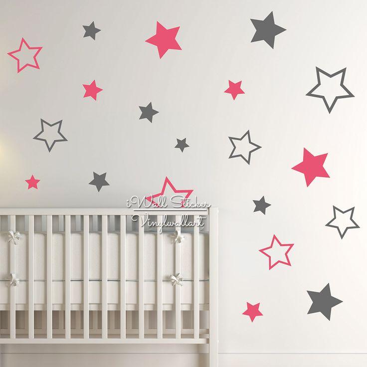 Kinderdagverblijf van de Baby Stars Wall Sticker Star Muurtattoo Kinderen Kamer Wandsticker Kinderkamer Gemakkelijk Wall Art Cut Vinyl N22