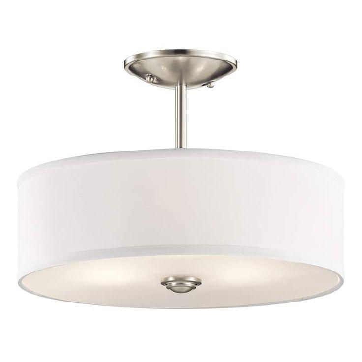 View the Kichler 43675 Shailene 3 Light Semi-Flush Ceiling Light at LightingDirect.com.