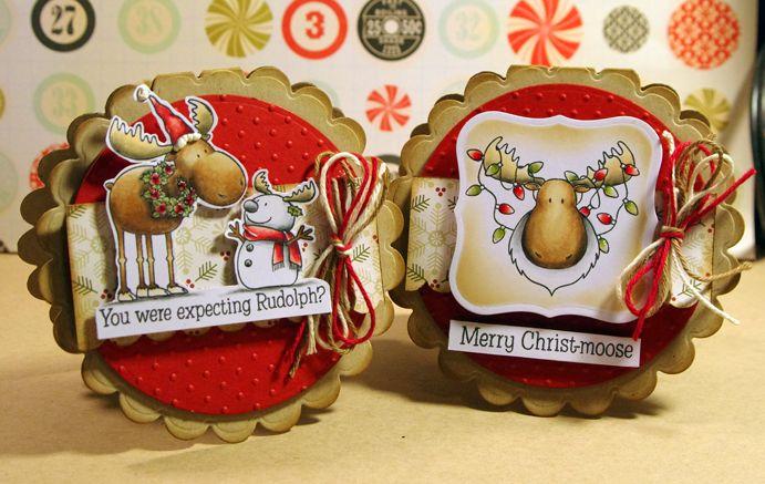 Tobi's Place: Merry Christ-Moose! #naughtyornice #christmas #tsg @torico @thereshegoes #copicmarkers #copic #cards #moose