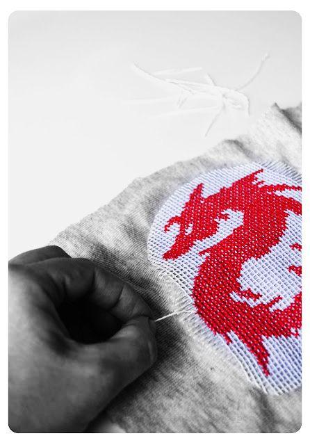 embroidery sweater or shirt │embellishment idea │ Brodera korsstygn | DIY Mormorsglamour