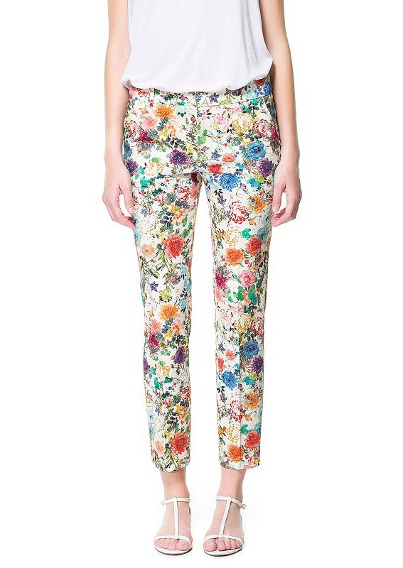 Multi Casual Floral Pockets Pant US$36.07
