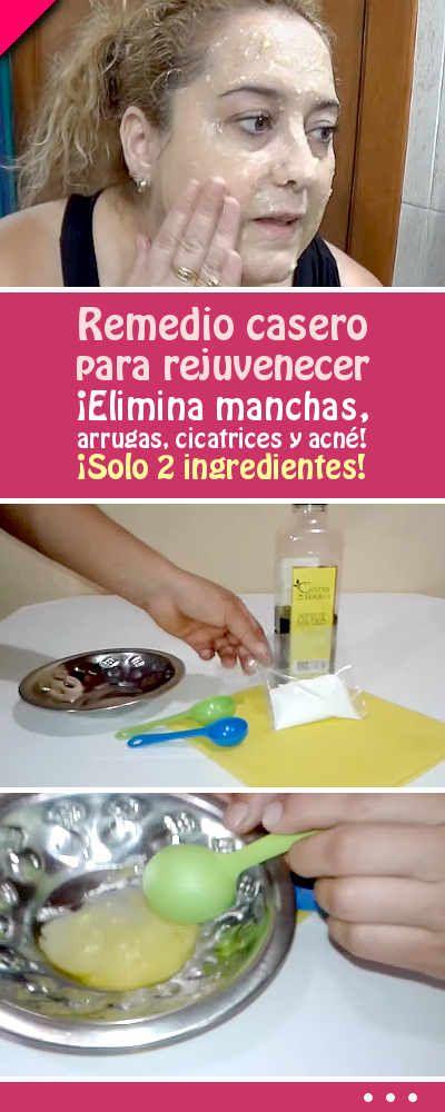 Remedio casero para rejuvenecer. ¡Elimina manchas, arrugas, cicatrices y acné!