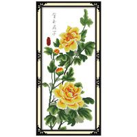 Золотой цветочные Узоры Счетный Крест 11 14CT Вышивка Крестом Наборы Оптовая Китайский вышивка крестом Наборы для Вышивания Рукоделие