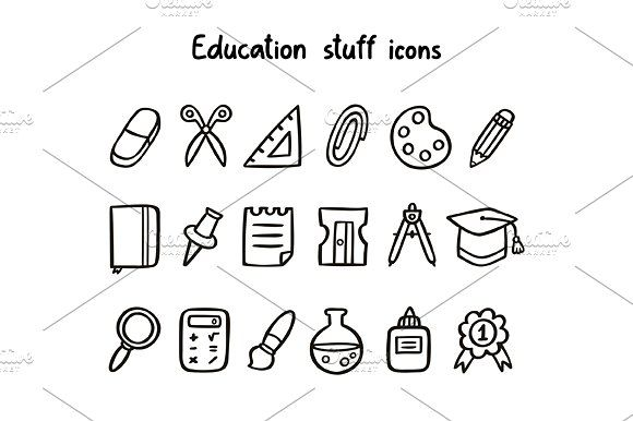 Education Stuff Icons Zip Package Includes Icons Education