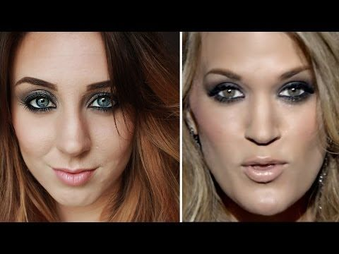 Easy Smokey Eyes and Loose Waves | Carrie Underwood Somethin' Bad Inspired - YouTube
