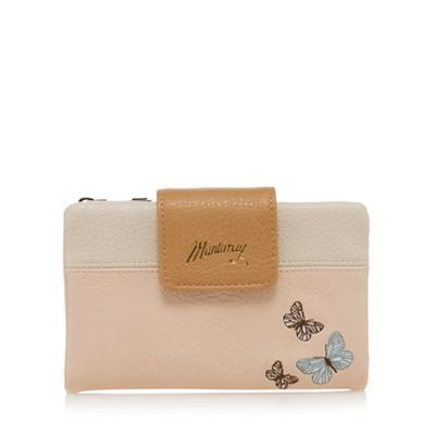 Mantaray Light pink butterfly applique zip top purse | Debenhams