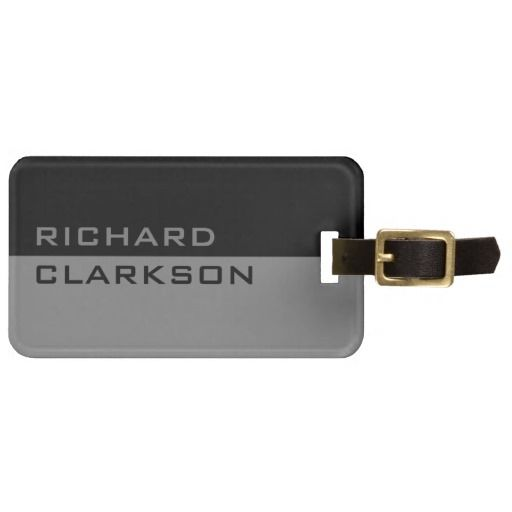 Personalized modern travel luggage tag for men #luggage #tags