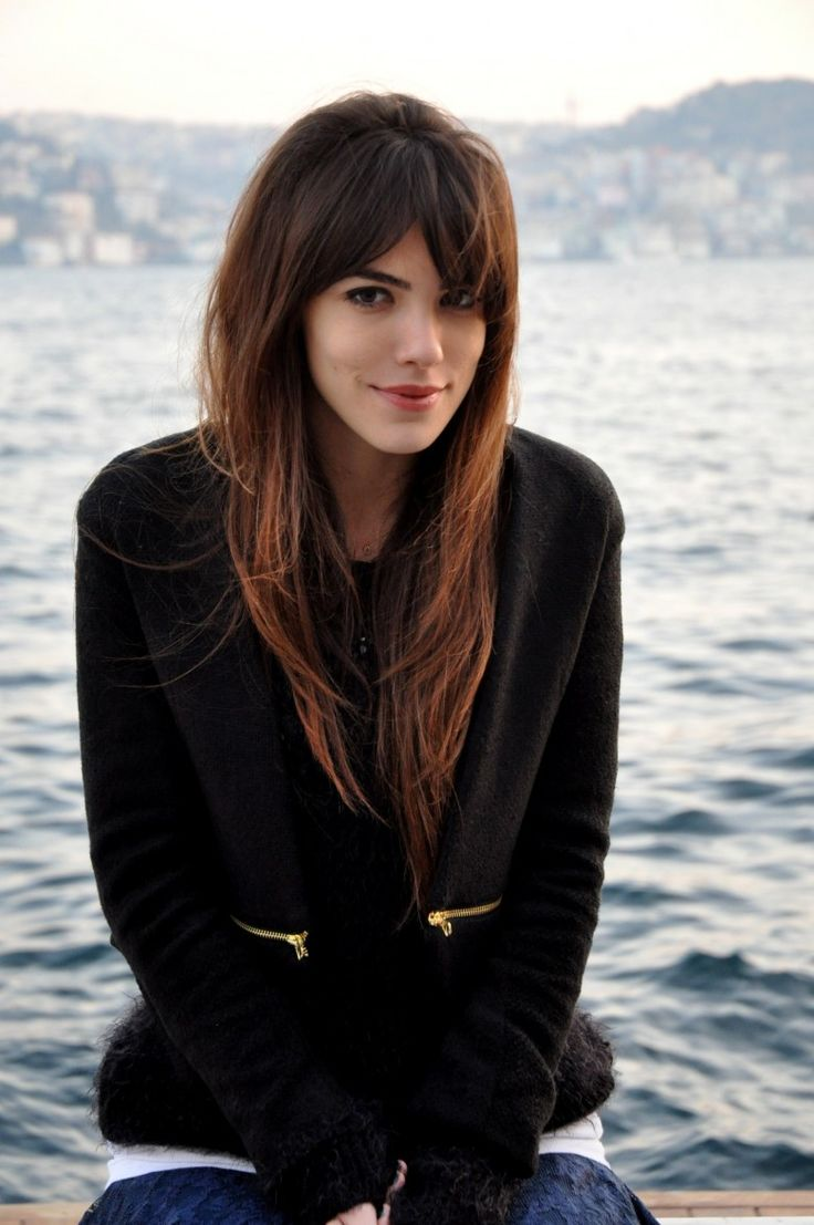 Middle part long bangs with lots of layers & movement - long shag! {Fall 2015}