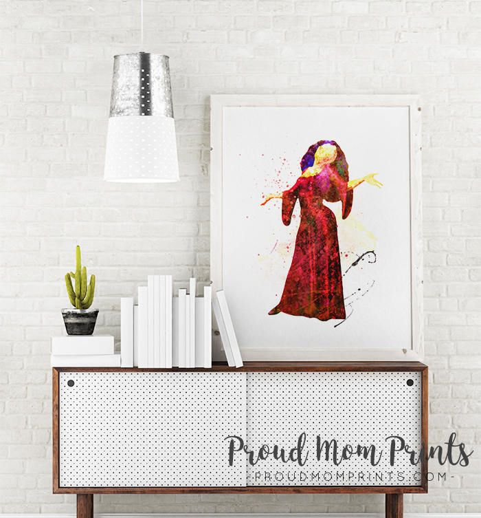 Disney Villain, Tangled, Mother Gothel, Tangled Wall Art, Tangled Party Decor