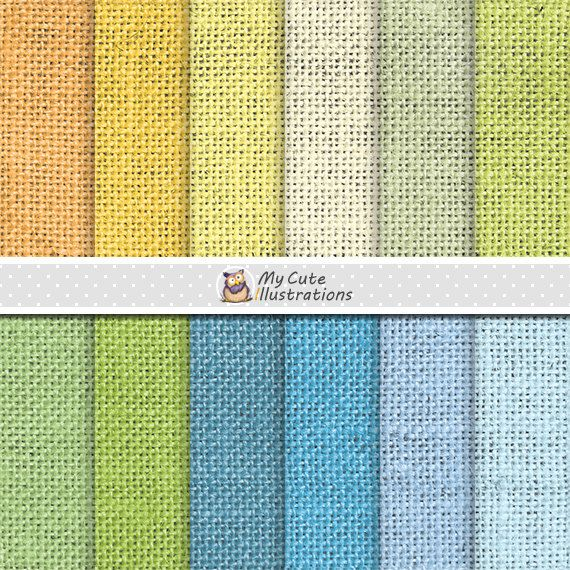 Burlap summer digital paper with burlap, linen, jute texture in summer colors…