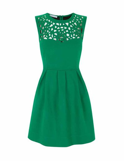 emerald cutout dress.: Kelly Green Dresses, Cutout Dresses, Emerald Green, Emeralds Green, Cute Dresses, Emeralds Cutout, Favorite Color, Emerald Dresses, Emeralds Dresses