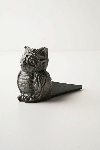 Owl Doorstop #anthropologie #owl
