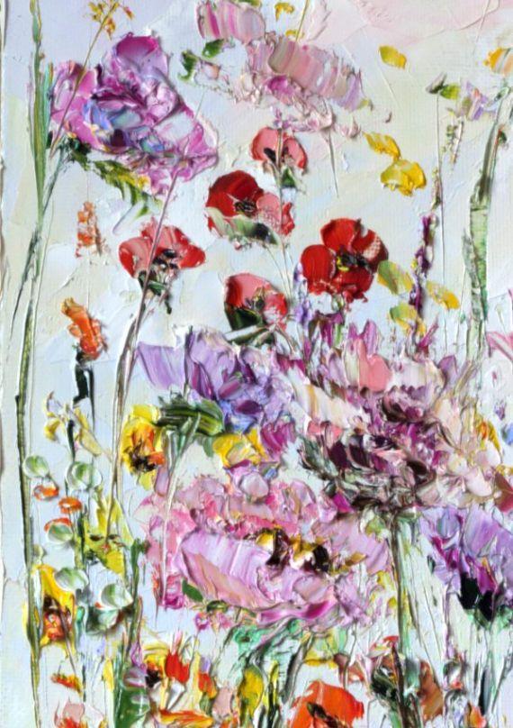 Impasto pesado Impasto pintura contemporánea textura pintura