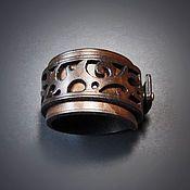 Украшения ручной работы. Ярмарка Мастеров - ручная работа Браслет кожаный Спираль. Handmade.