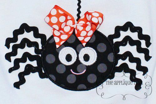 Halloween Ric rac Spider Digital Embroidery by theappliquediva, $2.99
