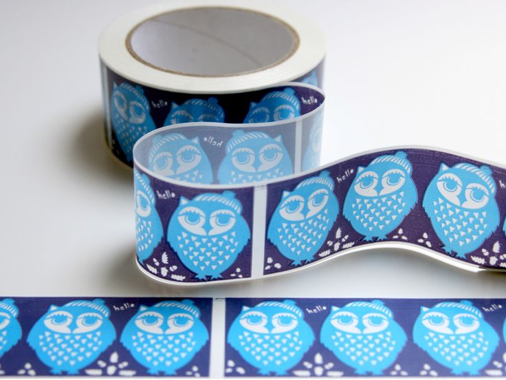 Hello Owl Ribbon Tape: Odyssey Owls, Owls 0 0, Ribbons, Hello Owl, Bluesy Owl