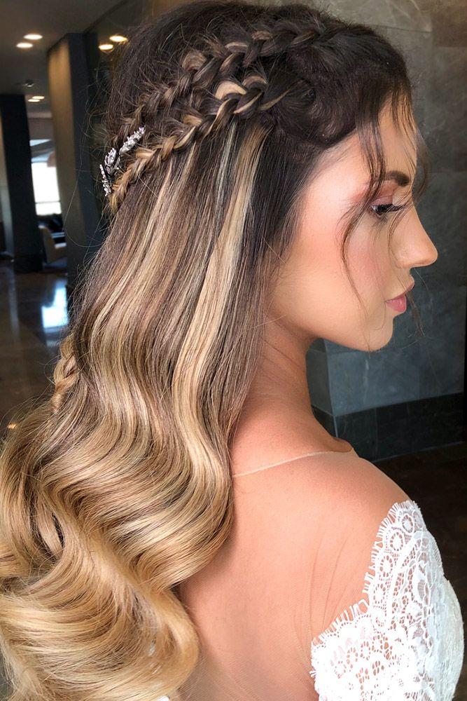 Wedding Guest Hairstyles Half Up Half Down With Braids Dvir Tvik Easy Wedding Guest Hairstyles Wedding Guest Hairstyles Hair Styles