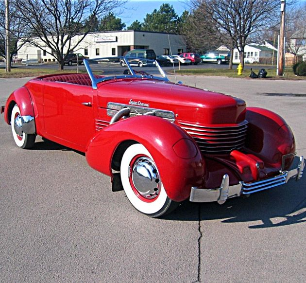 1937 Red Cord 812 Supercharged Phaeton Convertible