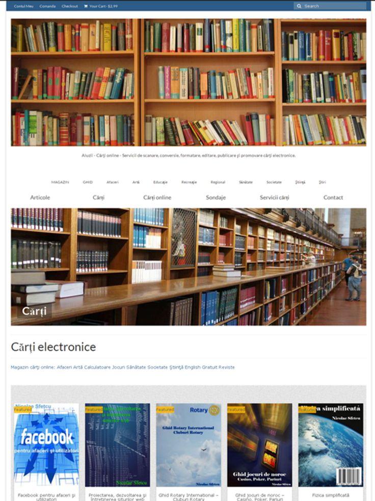 Aluzii - Cărţi online  Servicii de scanare, conversie, formatare, editare, publicare şi promovare cărţi electronice.  http://www.aluzii.ro/