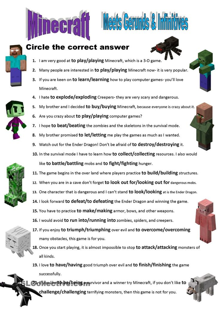Reading and Writing Minecraft