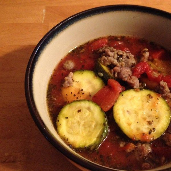 """Slow Cooker Zucchini Soup 