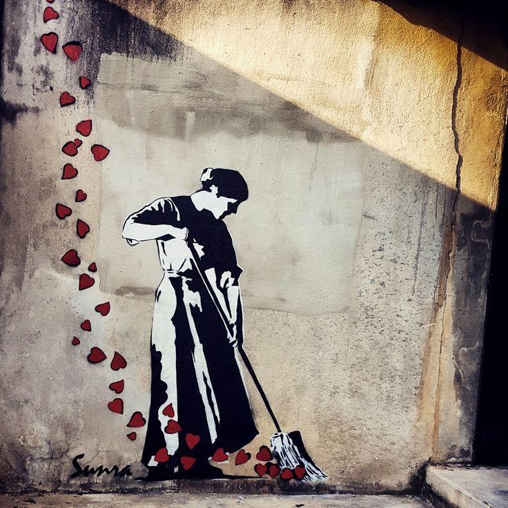 Street Art La balayeuse, 2015 / Université Paul Valéry - Montpellier, France