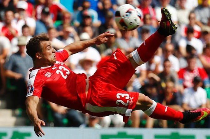 The best goal of the Euro2016! Thank you Shaqiri for this beauty! #euro2016 #switzerland #shaqiri #supporterspro