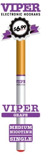 Viper Disposable E-hookah with Soft-tip. Longest Lasting Electronic Hookah Pen / Stick Available. (Grape Hookah) by Viper E-Hookah, http://www.viperecig.com/disposable-electronic-hookah-flavors/soft-tip-disposable-800-puff-electronic-hookah-singles/grape-medium-nicotine-electronic-cigarette.html