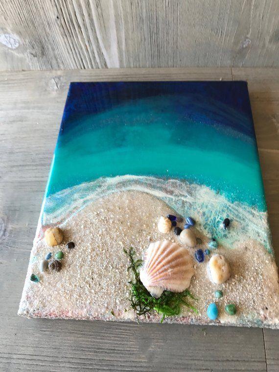 Coastal Decor Beach Wall Art Beach Decor Resin Ocean Whimsical