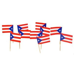 $3.95 for 100 Puerto Rican Flag Toothpicks (100)
