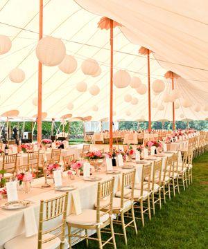 sperry tent + paper lanterns