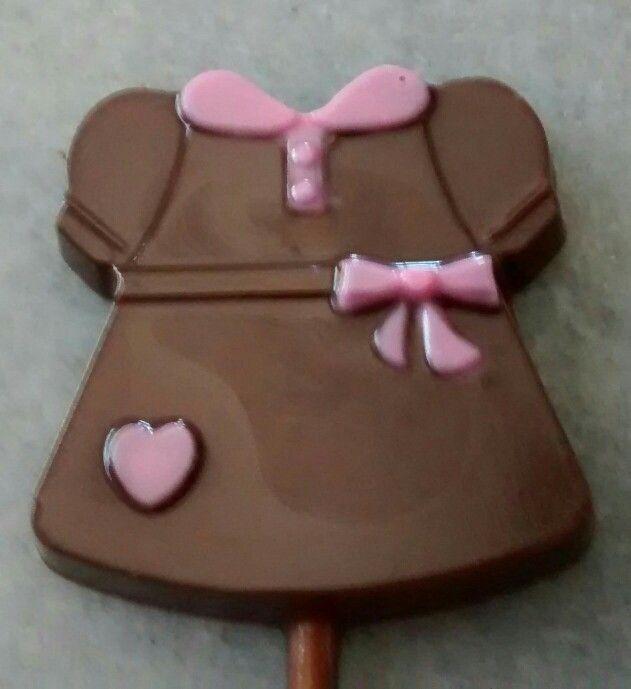 Pirulito chocolate vestido bebe