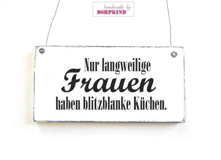 LANGWEILIGE FRAUEN Dekoschild Vintage Shabby Chic von DöRPKIND auf www.doerpkind.de