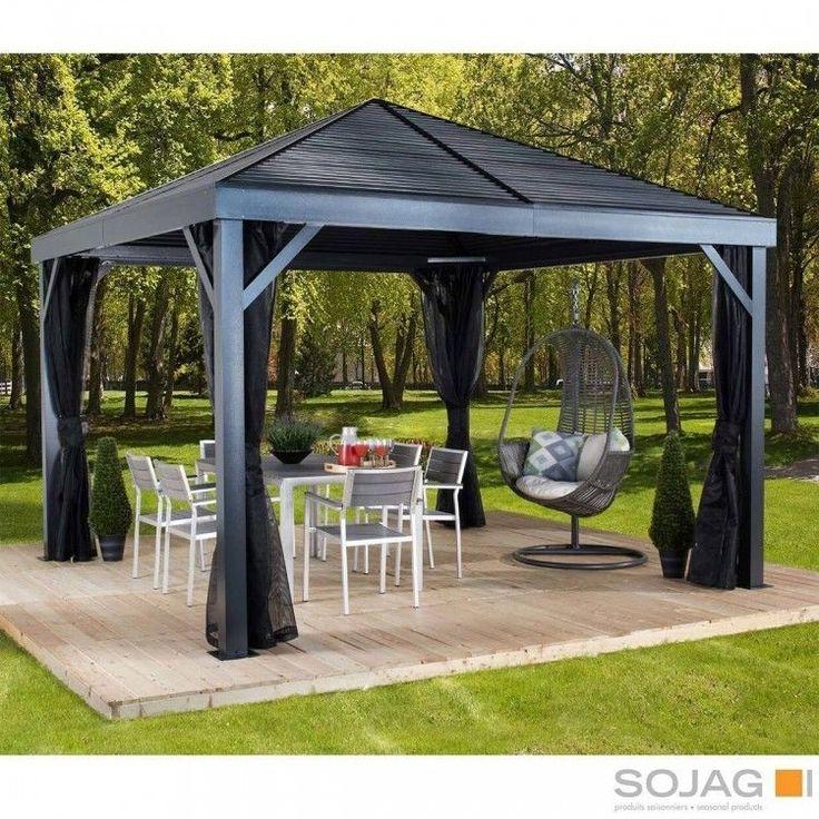 Patio Sun Shelter Gazebo Pool Furniture 12 x 12 ft Hardtop ...