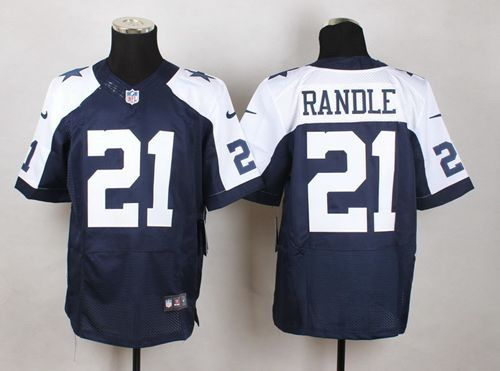 Nike Dallas Cowboys Jersey 21 Joseph Randle Navy Blue Thanksgiving Throwback Men's Stitched NFL Elite Jerseys