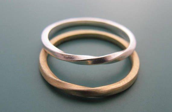Seine und ihre Ringe, Ehering-Set, paar Ring, Mobius Ring, passende Ringe für Paare, Hochzeit Bänder sein und ihn, Mobius Eheringe
