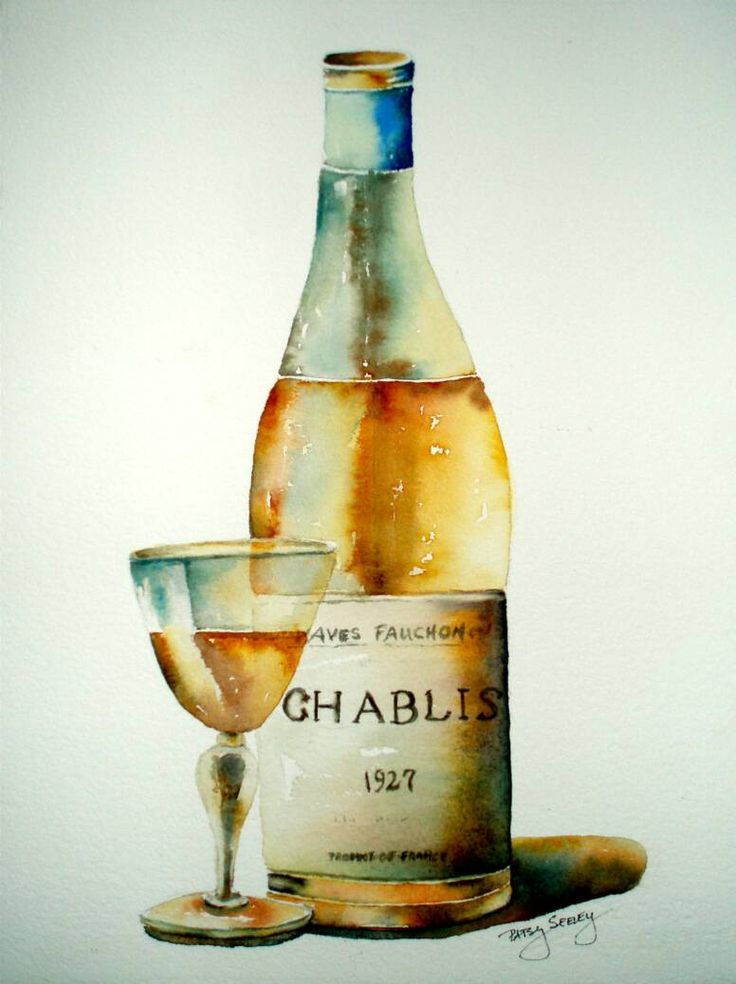 1000 images about watercolor wine glasses on pinterest for Wine bottle glass