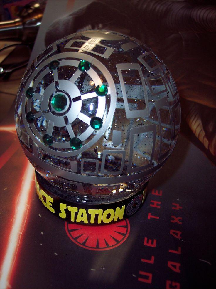 Death Star Glitter Globe