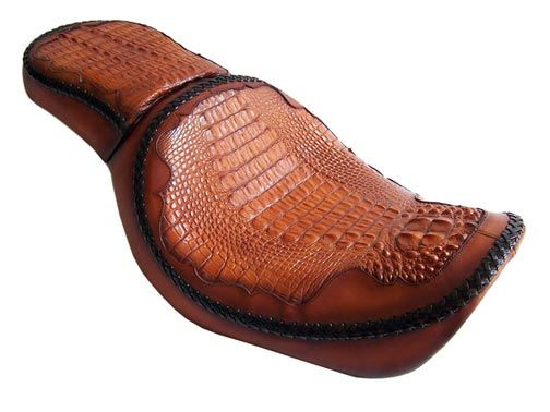 Harley seat in American alligator
