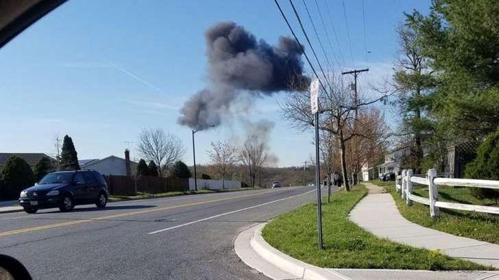 Se estrelló un avión caza F-16 de la Fuerza Aérea de los Estados Unidos en Maryland