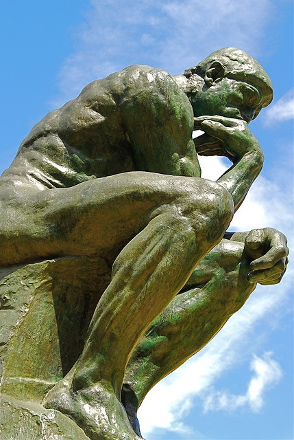 Rodin's The Thinker ~ Le Penseur ~ gardens at the Musée Rodin, Paris, France.  Photo:  by Vainsang, via Flickr