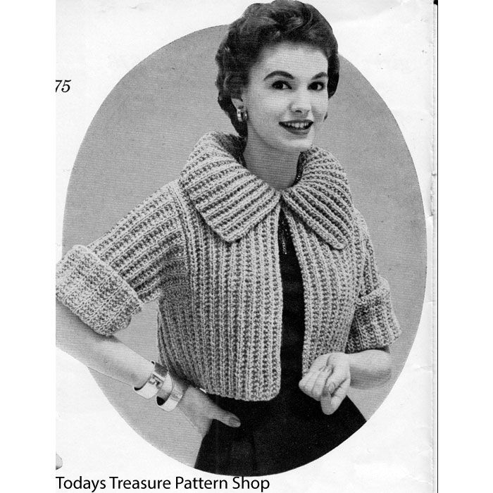 171 best knitted cardigans jacket pattern images on pinterest this styling 1950s knitting pattern is a short cropped jacket a dt1010fo