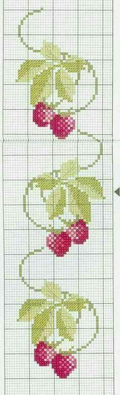 Fruit raspberry cross stitch.