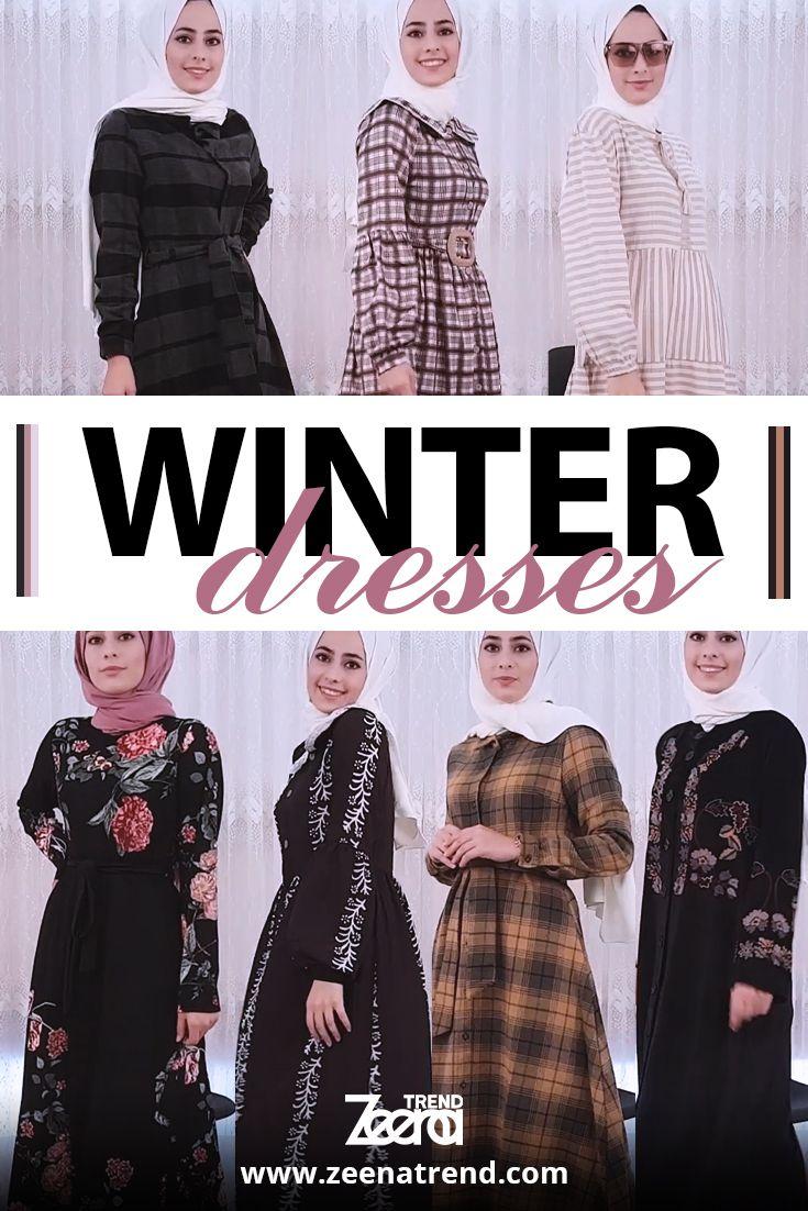 Winter Dresses Muslim Women Clothing Winter Dresses Islamic Clothing