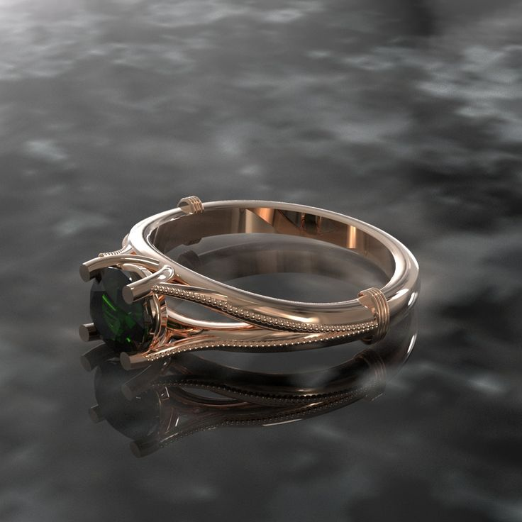 Bague solitaire, Or rose 18K C$694.50