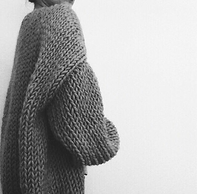Contemporary Knitwear - oversized cocoon cardigan // I Love Mr Mittens